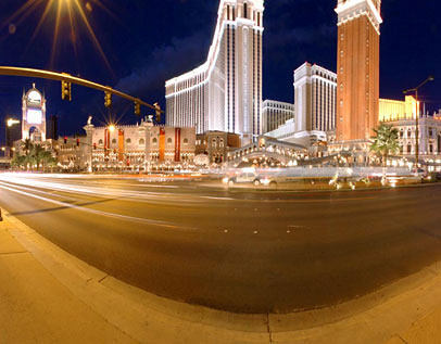 Venetian Strip At Night
